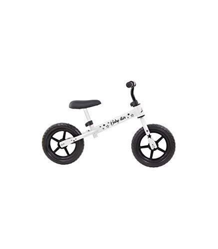 Grupo K-2 Riscko - Bicicleta sin Pedales con sillín Y Manillar Regulables | Ultraligera | Correpasillos Minibike | Bicicleta para Niños de 2 a 5 años Baby Star Blanca