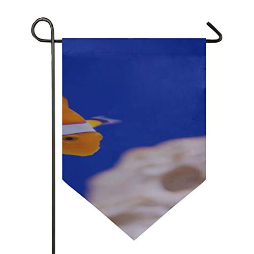 YXUAOQ Dekorative Hausflagge Anemone Tier Aquarium Clown Fisch Marine Ocean Camper Dekor Flagge Doppelseitig 12 X 18,5 Zoll / 28 X40 Zoll Home Yard Decor Banner im Freien