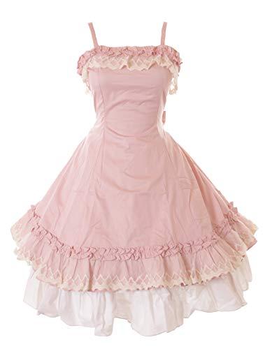 Kawaii-Story JL-663-8 Rosa Weiß Gothic Lolita Rüschen Klassik Kleid & Rock Kostüm Cosplay (S-M)