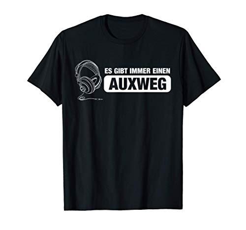 Auxweg Tontechniker Toningenieur Mischpult Mixer T-Shirt