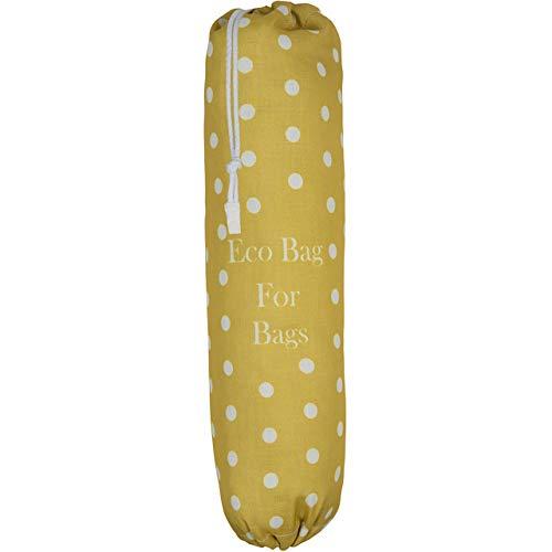 Izabela Peters Umweltfreundlicher Plastiktüte für Lebensmittel, Lagerung, Einkaufen, verschiedene luxuriöse Designs Groß Tupfens - Senf