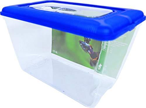 Plastic Aquarium Blauw Deksel 15L