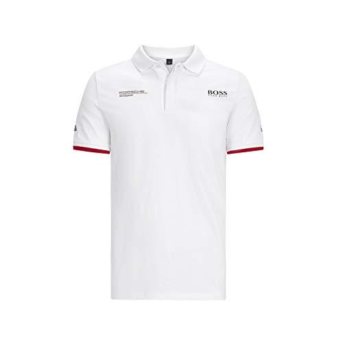Porsche Motorsport Men's Team White Polo w/Motorsport Kit (L)