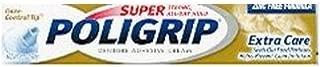 SUPER POLIGRIP Denture Adhesive Cream Extra Care 2.20 oz (Packs of 3)