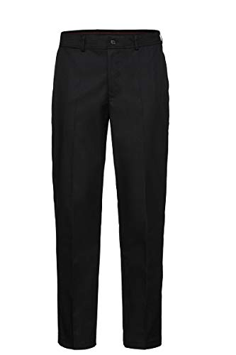 HIZA-Herrenhose, Stretch, Chino de Luxe, Berufs-Hose Lg. 82 cm, 245 g/m², schwarz 52
