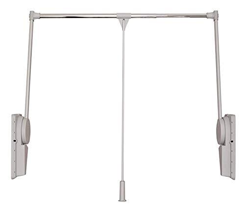 Ronin Furniture Fittings® Kleiderlift Super 12-20KG alufarben für Breiten 750-1150 mm