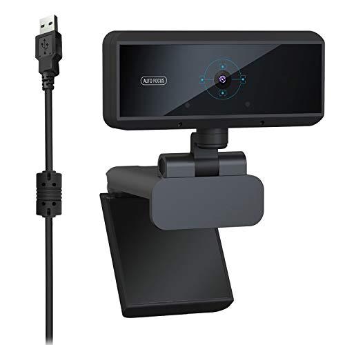 Camisin Cámara web HD 1080P 5MP micrófono integrado de enfoque automático de videollamadas de ordenador periférico cámara web para PC portátil Game Cam