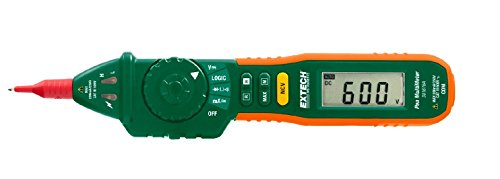 Extech 381676A Pen MultiMeter with Built-in NCV, Fully Loaded Pen-style Meter with 9 Functions, Auto/Manual Ranging Pen-style Multimeter, Large 2000 Count High Contrast LCD Display