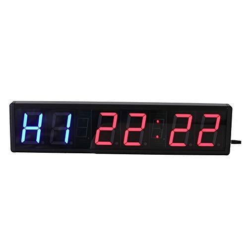 Temporizador pantalla LED Reloj de cronómetro deportivo digital LED for interiores de 3 pulgadas Temporizador de cuenta regresiva Reloj de pared con control remoto Negro Reloj de cuenta regresiva