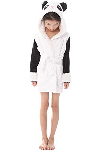 """YAOMEI Kinder Morgenmantel Bademäntel Einhorn Kapuzenpullover Jungen Mädchen Kigurumi Karikatur Nachtwäsche Nachthemd Schlafanzug (140 für Kinder Höhe 130-140CM (51\""""-55\""""), A-Panda)"""