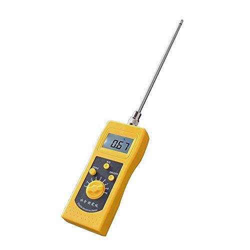 Huanyu Chemical Moisture Meter Digitaler Wasserinhalts-Feuchtigkeitsmesser für Erde/Kohle/Pulver/Silber Schimmel Sand 0 bis 2% & 0 bis 90% Messbereich unterstützt Yellow Hygrometer DM300 mit Nadel