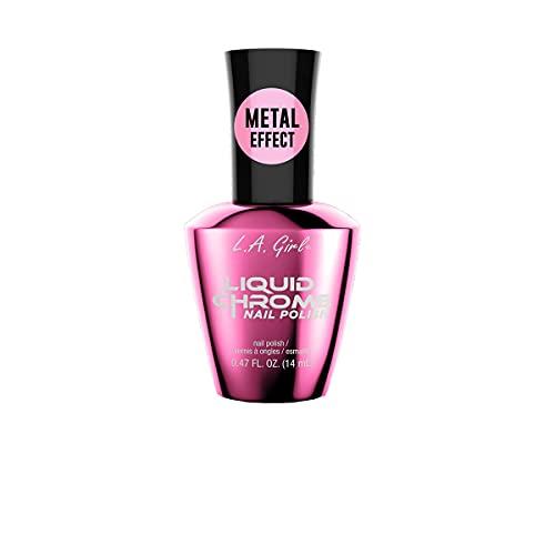 L.A.girl Liquid Chrome Nail Polish 0.47 FL OZ- 8 Colors (Radiant Rose)