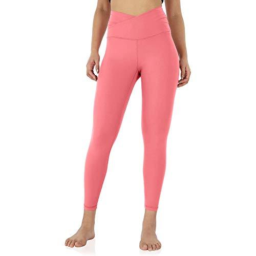 NAQUSHA Leggings de yoga de cintura alta para mujer, con bolsillo interior, levantamiento de glúteos, pantalones de yoga elásticos