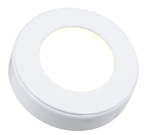 American Lighting OMNI-1-WH Dimmable LED Omni Puck Light, c/UL/us Listed, 12V DC, 3-Watts, 2700K Warm White, 150 Lumens, White
