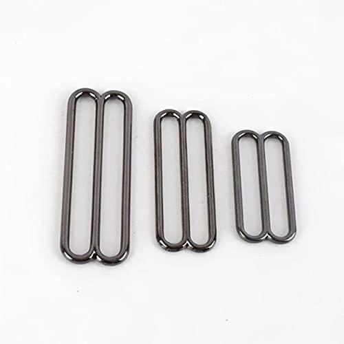 30pcs 20/30/38 / 50mm Metal Tri-Glide Ajustar hebillas Sujetador O Ring Sliders Correa Hebilla DIY Cinturón Gancho Accesorio para ropa-20mm-30Pcs, GunBlack-TriGlide