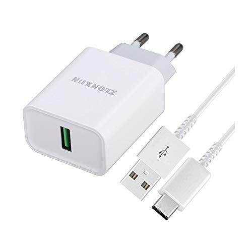 ZLONXUN Cargador rapido USB-C para OnePlus N100/7/6T/6/5T/5/3T/3, OPPO A52/Reno2/A32/A92S/A72/Reno