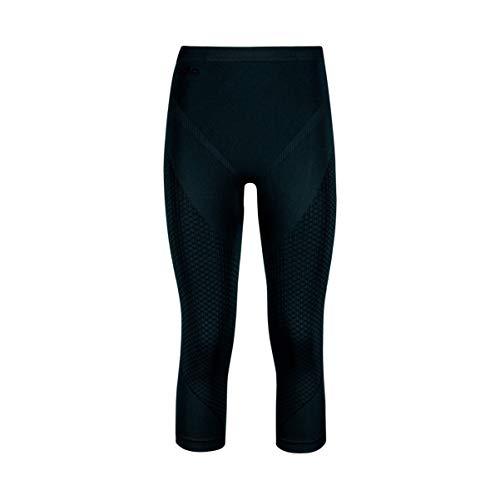 Odlo Evolution Warm Pants 3/4 Pantalon De Sport Femme, Multicolore (Black/Graphite Grey 60056), 32 (Taille Fabricant: Small)