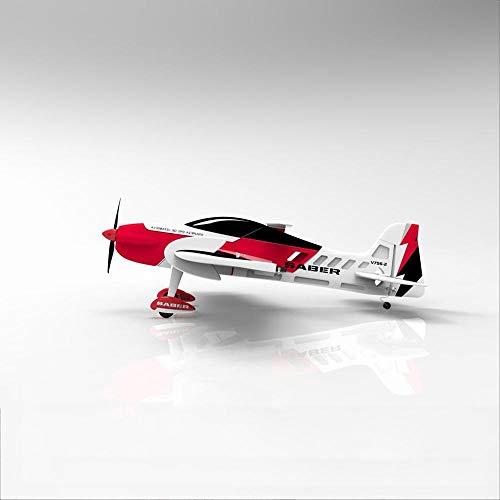 AFCITY Avión RC para Adultos Sabre 920 756-2 EPO 920mm Envergadura RC Avión acrobático 3D Aviones Kit/PNP (Color : Rojo, tamaño : Kit)