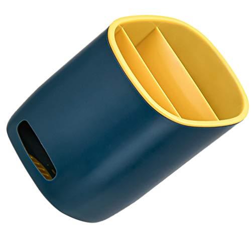 Hemoton Utensilios de Cocina Soporte de Plástico de Cocina Espátula de Caddy Organizador de Utensilios Crock para Palillos de Encimera Tenedores de Cuchara