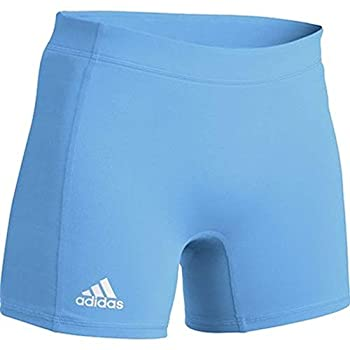 adidas Womens Volleyball 4 inch Short Tight  Blue Large