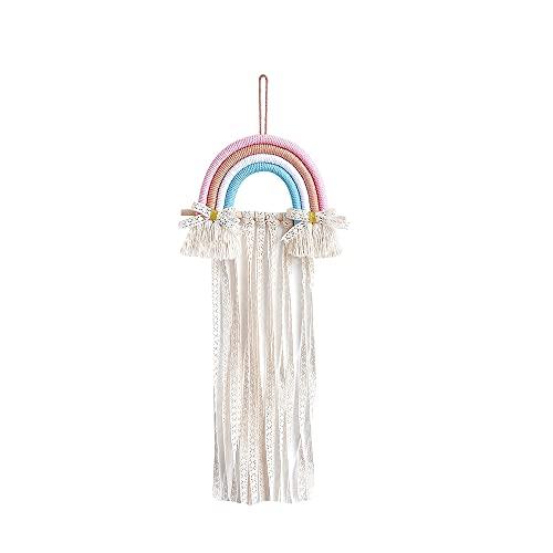 YJKL Almacenamiento de accesorios para el cabello, almacenamiento de fotos, cuerda de algodón multicolor, palo de madera de estilo nórdico, fresco para café, sala de estar