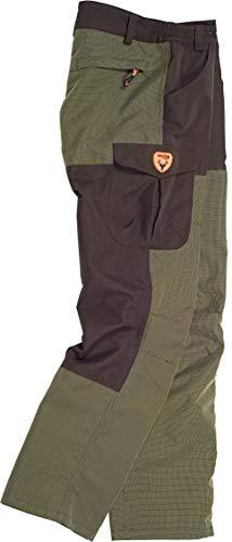 Work Team Pantalon combinado, con 2 bolsos laterales, 2 traseros y 1 bolso en pernera. HOMBRE Verde Caza/Marron L