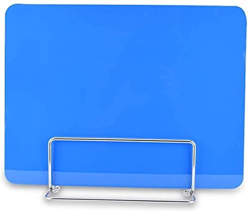 HLD Pantalla de partición 2 piezas soporte de pantalla de partición de escritorio con clip fijo panel anti-estornudos para escritorio mesa de comedor partición pantalla de partición extraíble
