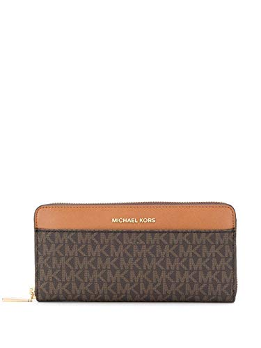Luxury Fashion | Michael Kors Dames 34F9GM9E9B200 Bruin Pvc Portemonnees | Lente-zomer 20