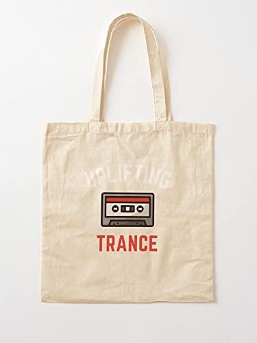 Générique Dance Uplifting Tape Electronic Grandson Music Trance - Einkaufstaschen aus Segeltuch, mit Griffen, Einkaufstaschen aus nachhaltiger Baumwolle