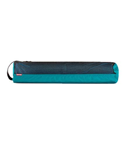 Manduka Breathe Easy Full Zip Yoga Mat Carrier Bag with Pocket, Adjustable Strap, Suitable for Most Yoga Mats - Harbour
