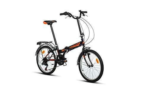 Moma Bikes Folding Park 20, Bicicletta Unisex – Adulto, Nero, Taglia Unica