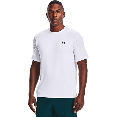 Under Armour Tech 2.0 Shortsleeve, atmungsaktives Sportshirt, kurzärmliges und schnelltrocknendes Trainingsshirt mit loser Passform Herren, White / Black, L