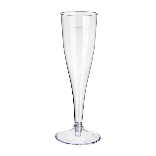 tradingbay24 Stiel-Gläser für Sekt, PS 0,1 l Ø 5 cm, 17,5 cm glasklar tbU95422 Sektgläser Einweggläser, 500 Stück