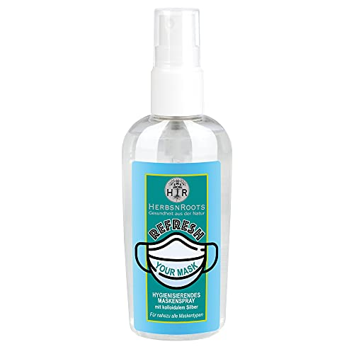 Mundschutz ffp2 Masken-Spray • hygienisiert • erfrischt • Masken medizinischer Mundschutz • mask sanitizer • mit kolloidalem Silber • HerbsnRoots