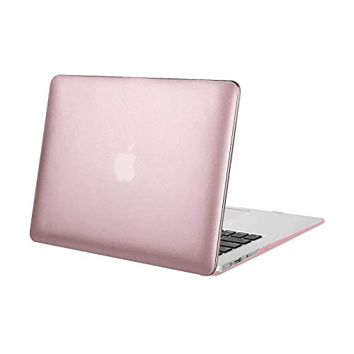 MOSISO Funda Dura Compatible con MacBook Air 13 Pulgadas (A1369 / A1466, Versión 2010-2017), Ultra Delgado Carcasa Rígida Protector de Plástico Cubierta, Rosa de Oro