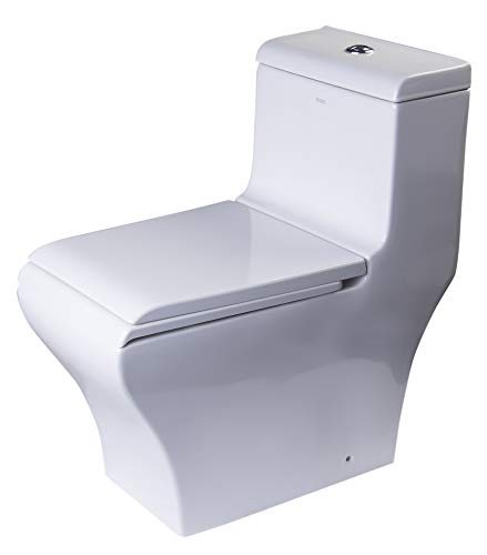 EAGO TB356 Dual Flush Eco-Friendly Ceramic Toilet, 1-Piece