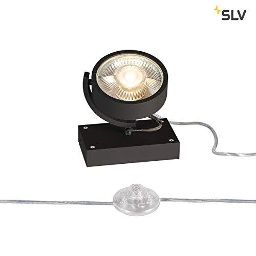 SLV Standleuchte KALU, dreh- und schwenkbar | Dimmbare Lampe, Beleuchtung innen | LED Spots, Fluter, Mobile Leuchte, Boden-Lampen, Tisch-Leuchten | 1-flammig, LED Inside, EEK A-A++