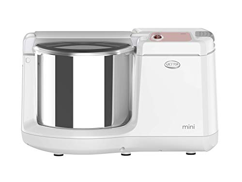 ULTRA Mini Table Top 1.25L Wet Grinder with Atta Kneader, 110-volt (New Model), white