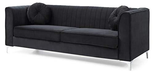 Glory Furniture Delray Sofa, Black. Living Room Furniture, 3 Seater