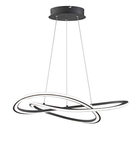 Lámpara de techo Ohio1flg, color negro, 150 x 71,5 x 71,5 cm, regulable