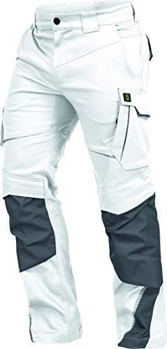 Leib Wächter Flex-Line Workwear Bundhose Arbeitshose mit Spandex (weiß/grau, 56)