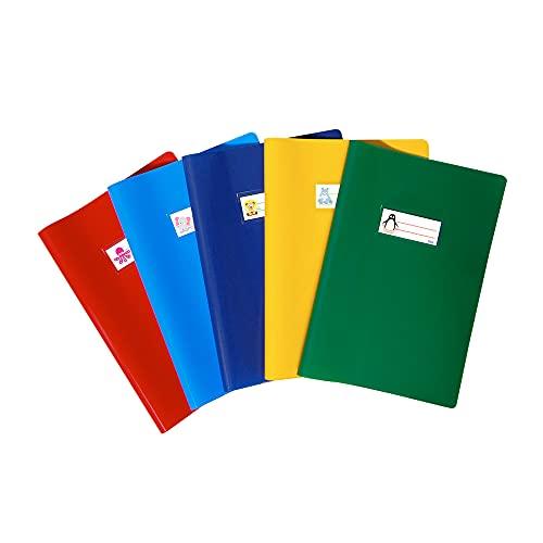 Favorit Copri Quaderni A4 con Etichetta, set da 10 pezzi, Multicolori