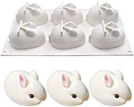 Generic Cute Small Silicone Rabbit Mousse Mold Baking Cake Dessert Fondant Mould Fruit Chocolates Molds Soft Pastry Bakeware