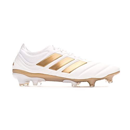 adidas Herren Copa 19.1 Fg Fußballschuhe, Weiß (FTWR White/Gold Met./Football Blue FTWR White/Gold Met./Football Blue), 46 EU
