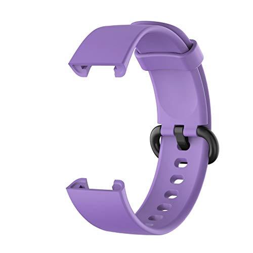 Banda para MI Watch Lite Correa Reemplazo Deporte Pulsera De Silicona Correa para Xiaomi MI Watch Smart Watch Correa Correa De Muñeca (Color : Light Purple)