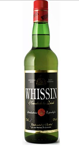 2 alkoholfreie Spirituosen-Alternative Bundle – 70 cl Whissin (alkoholfreier Whiskey) 100 cl Ronsin (alkoholfreier Rum)