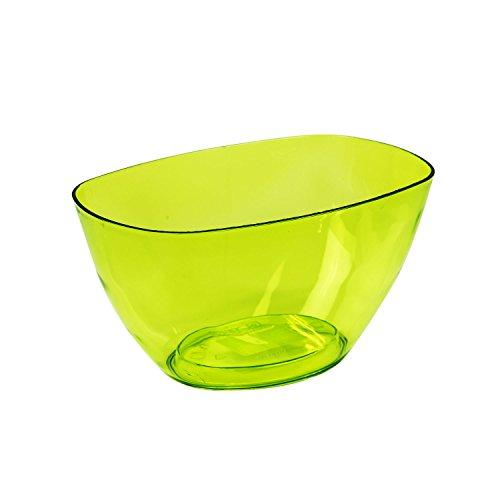 1,6 L Vert Translucide pflanz Coupelles fleurs Coque Décoration rigide Pot de fleurs décoratif Assiettes