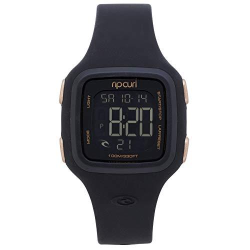 Rip Curl Dames Candy2 Digitaal siliconen horloge Rosé goud - Lichtgewicht waterdicht sprayproof - Digitale tijd met dag en datum