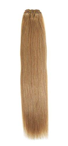 Euro soyeux tissage | Extensions de cheveux humains | 45,7 cm | Bronze Blond (27) American Pride