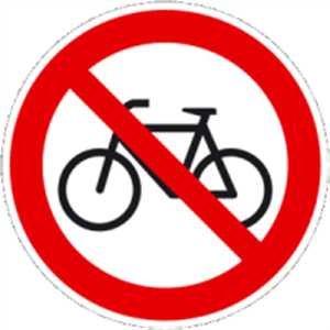 AUfkleber Verbot für Radfahrer 20cm Ø Folie